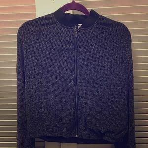 H&M Shimmer Bomber Jacket